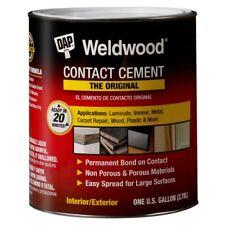 Dap 00273 1 Gallon Weldwood Original Contact Cement, Tan