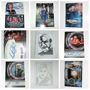 Stargate SG-1 Farscape Andromeda Xena Hercules Autograph Costume Trading Cards