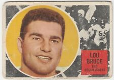 1960 TOPPS CFL LOU BRUCE OTTAWA ROUGH RIDERS #61 (TORONTO HIGH SCHOOL)