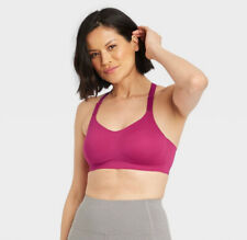 All In Motion XL Cranberry High Support Bonded Bra