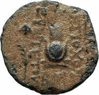 ANTIOCHOS VII Sidetes Ancient 138BC Seleukid Greek Coin w EROS & ISIS Hat i75660