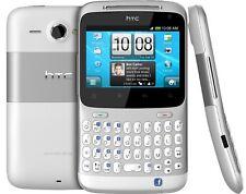 HTC ChaCha a810e Silver/White Qwerty Smartphone Android-Rarità-Nuovo/Scatola Originale