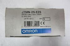 OMRON J7MN-25-E25 INTERRUTTORE AUTOM. PROTEZIONE MOTORE (SALVAMOTORE) 0,18-0,25A