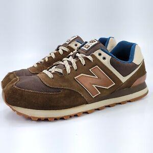 New Balance 574 Athletic Running Training Shoe Mens Size 13 ML574CAB Brown White