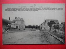 VILLENEUVE-SUR-YONNE  :  La Gare et ses Abords.