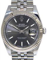 NEW Rolex Datejust 41 Steel & 18k WG Rhodium Dial Watch Box/papers 126334