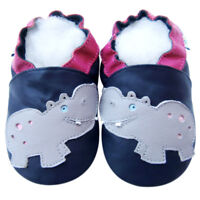 Baby Shower Gift Baby Shoes Soft Sole Leather Toddler Crib ExcavatorBlue 6-12M