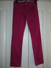 White House Black Market Blanc Size 2L Pink Raspberry Slim Ankle Denim Jeans