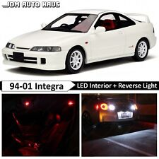10x Bulbs Red Interior Reverse LED Lights Package Fits Acura Integra 1994-2001