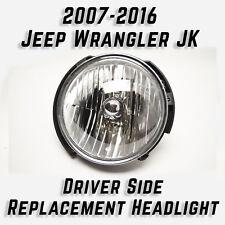 2007-16 Jeep Wrangler JK Chrome Driver Side LH Replacement Headlight CS335-B001L