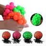 Novelty Anti-Stress Squishy Mesh Venting Ball Grape Squeeze Sensory Fruity Toys