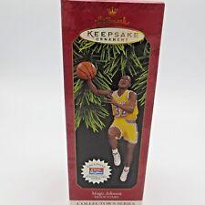 Magic Johnson 1997 Hallmark Hoop Star Collector Series Ornament Basketball Laker