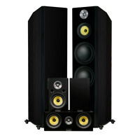 Fluance Signature Series Hi-Fi 5.0 Surround Sound Home Theater Speaker System