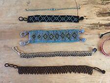 Beautiful Patterns Lot Of Six (6) New Fancy Beaded Bracelets & Anklets