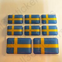 Pegatinas Suecia Pegatina Bandera Suecia Vinilo Adhesivo 3D Relieve Resina