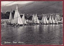 SAVONA SPOTORNO 42 SPIAGGIA STABILIMENTO BAGNI VELE Cartolina FOTOGR. viagg 1951