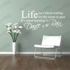 life is not about waiting stickers wall Decal Removable Art Vinyl Decor Home