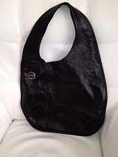 Surgio Rossi Black Leather Hobo Bag Purse