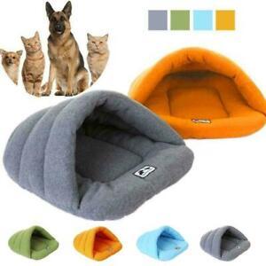 Pet Cat Dog Nest Bed Puppy Cave House Winter Sleeping Bag Mat Hot Pad Soft