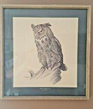 "JF Lansdowne - 5 Professionally Framed - Various Birds- 1964 - 14 1/4"" x 15"""