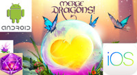 Merge Dragons 20K GEMS IOS Android