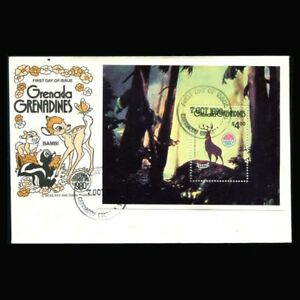 Grenada Grenadines, FDC, Disney, Christmas, 1980, Bambi, GG125-A