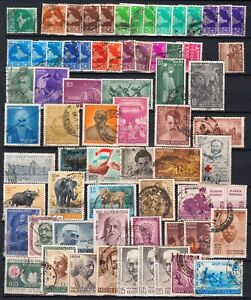 INDIA  1958  1966      lot of  68  stamps