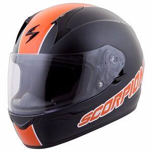 Scorpion Black/Orange EXO-R410 Split Helmet - Small