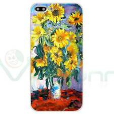 "Custodia cover flessibile TPU arte per Apple iPhone 7 Plus 5.5"" MONET GIRASOLI"