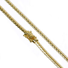 "Men's 14K Gold Plated 5 mm 26"" Miami Cuban Link Chain Necklace Clasp Safety Lock"