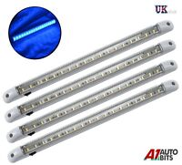 4X POWERFUL LED 24V STRIP INTERIOR BLUE LIGHT LAMP CAR CARAVAN BOAT MOTORHOME