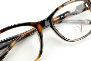 DIANE VON FURSTENBERG DVF5066 240 Brown Tortoise 50-17-130 Frames Authentic I96