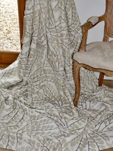"""HARLEQUIN CURTAINS Anais INTERLINED Embroidery Leaf NEUTRAL Ea104""""W 110""""D UNUSED"""