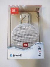 JBL Clip 3 Portable Waterproof Wireless Bluetooth Speaker, Steel White, 004