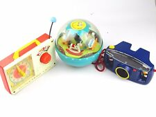 VINTAGE FISHER PRICE KIDS PLAY TOYS CHIME BALL KODAK FILM CAMERA & RADIO CLOCK