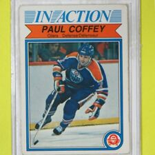 "PAUL COFFEY  82-83  ""2nd. Yr. OPC IN ACTION CARD""  #102  Edmonton Oilers     001"