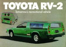 Print. Green 1973 Toyota RV-2 Concept Car Advertisement