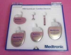 Medtronic MRI SureScan Cardiac 6 Piece Pacemaker Defibrillator Demo Set & Case