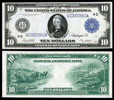 NICE  CRISP UNC.1914 $10 FEDERAL RESERVE NOTE COPY PLEASE READ DESCRIPTION!