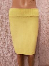 T Alexander Wang yellow cotton knitted pencil mini skirt size S
