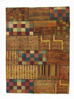 """Momeni Heirlooms Patchwork Hand Knotted Wool Multi Area Rug 5'9"""" X 7'9"""""""