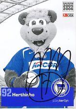 Herthinho  Hetzha BSC Berlin  2005/06  Autogrammkarte signiert 356950