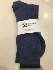 Johnstons of Elgin Men Socks cashmere new with tags -  Blue  - RRP £59 Cashmere
