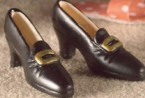 Dolls House Emporium Miniature 1/12th Scale Black Ladies Resin Shoes 4966