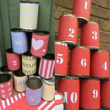 Tin Can Alley And Carnival Games X26 Labels. Garden Games Party Vintage Wedding