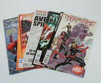 Marvel Comics Lot of 5 Comics Modern Age Comics Defenders, Sneak Peeks