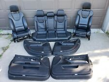 2004 2005 AUDI S4 B6 BLACK FRONT REAR COMPLETE RECARO SPORT SEATS w/DOOR PANALS