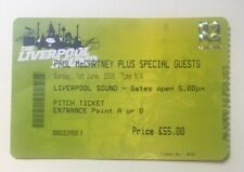 Beatles Paul McCartney Liverpool 2008 Concert Ticket UK Rare Original