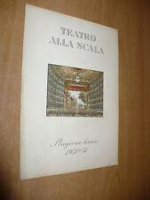 TEATRO ALLA SCALA STAGIONE LIRICA 1950-51 IL PRINCIPE IGOR ISSAY DOBROWEN MASINI