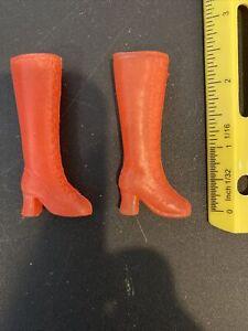 Vintage 1970s Barbie doll pink boots